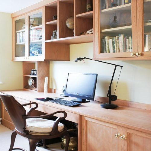 Gorgeous Fitted home office furniture in Cherry wood