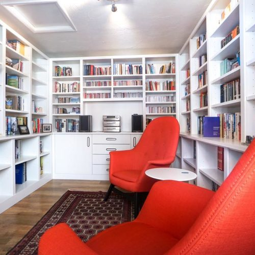 Home library and reading room