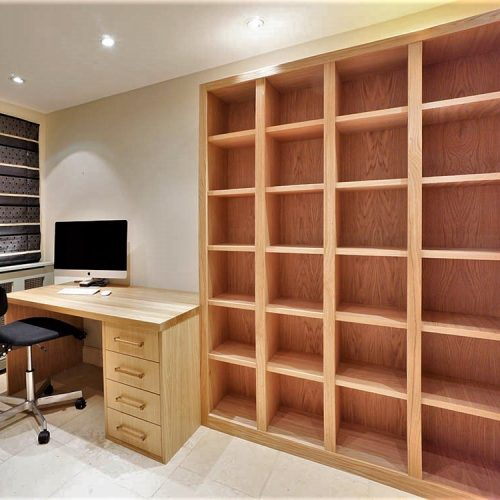 Fitted Home office furniture with library