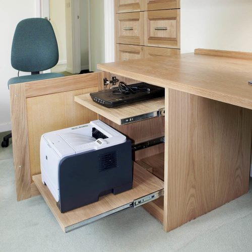 Pull out Printer drawer in cabinet