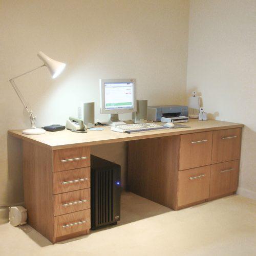 Freestanding home office desk