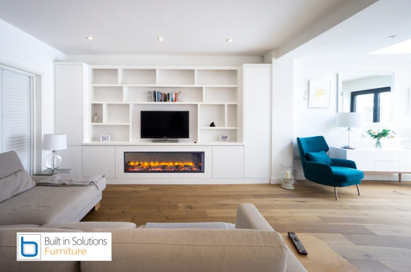 TV wall unit with electric fire - contemporary design Cabinets