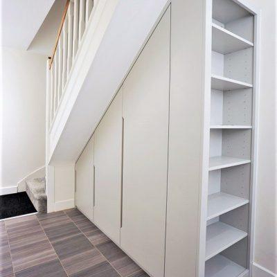 Understairs storage wardrobe built in wardrobe modern contemporary
