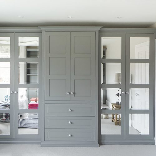 beautifull fitted Bedroom with glass panel doors