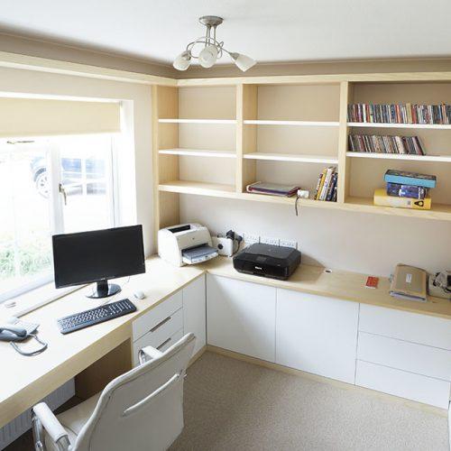 modern built in home office