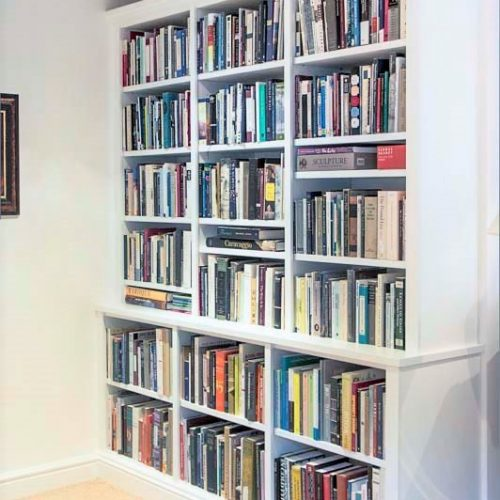 built in bookcases floor to ceiling