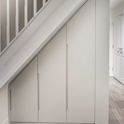 understairs modern contemporary builtin wardrobe cupboard